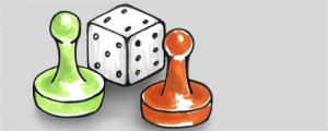 Game Piece and Dice