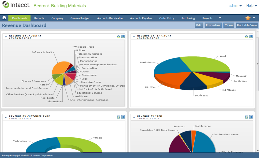 Intacct ERP Software