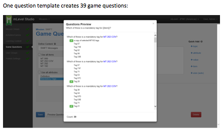 mLevel-Question Creation Template