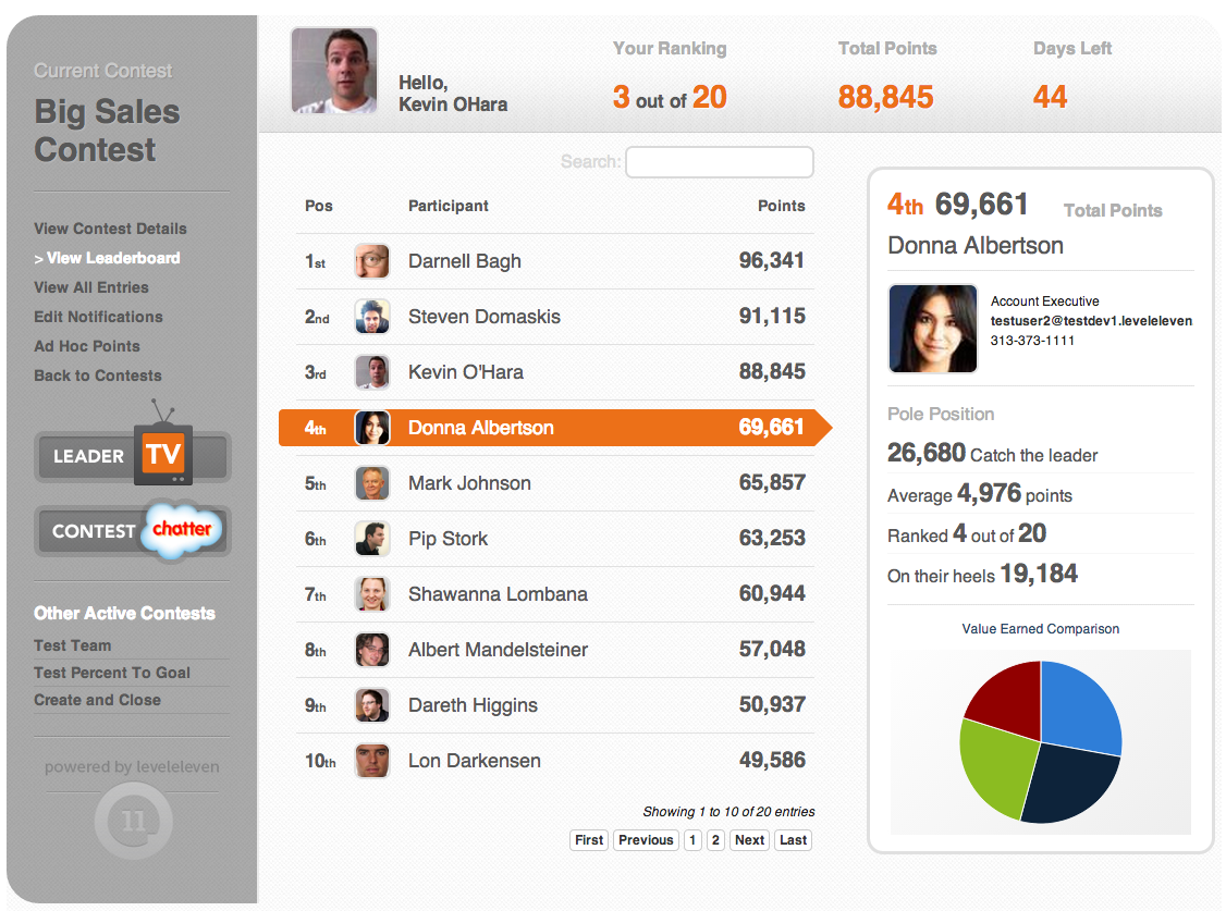 LevelEleven gamification for Salesforce