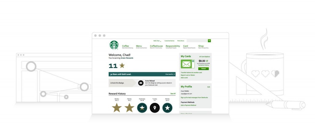 Starbuck's white label customer loyalty solution powered by BigDoor