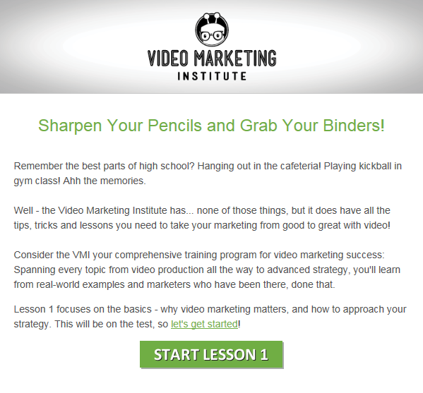 Vidyard email marketing example