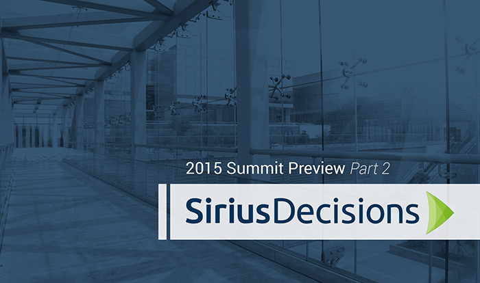 SiriusDecisions summit preview image