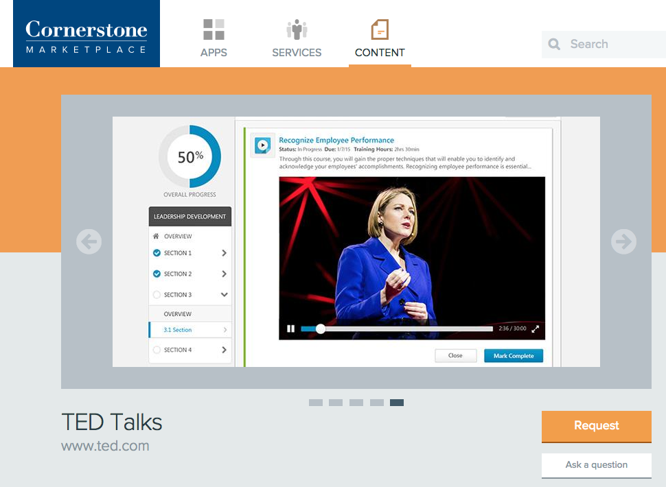 Cornerstone OnDemand redefines workplace learning with TED Talk partnership.