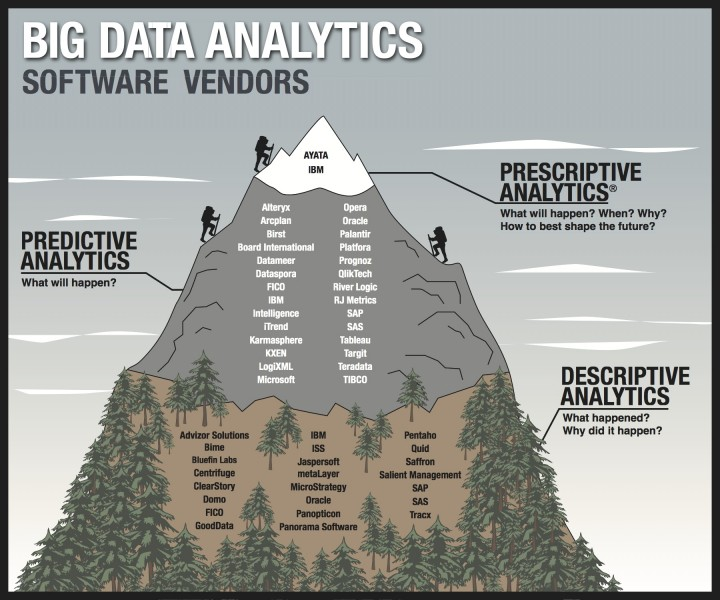 the three levels of big data analytics software vendors