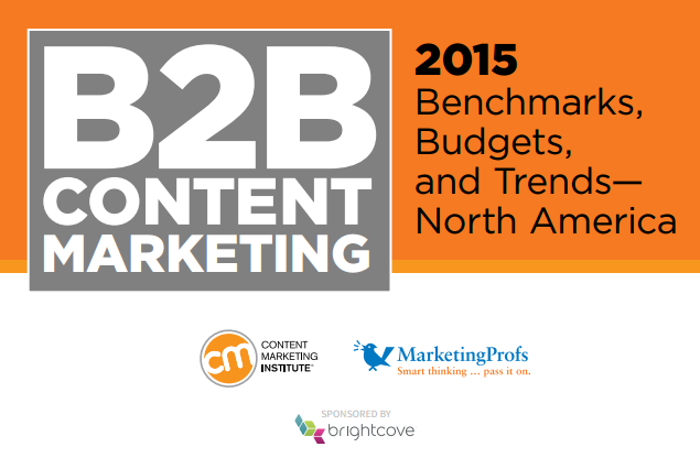 Co-branded study example with Content Marketing Institute, Brightcove, and MarketingProfs