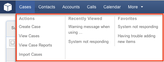 sugarcrm support case