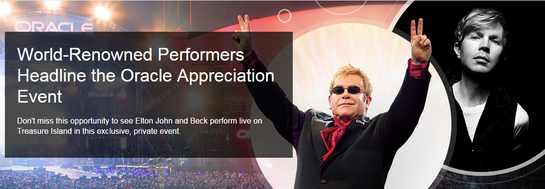 elton john beck oracle openworld 2015