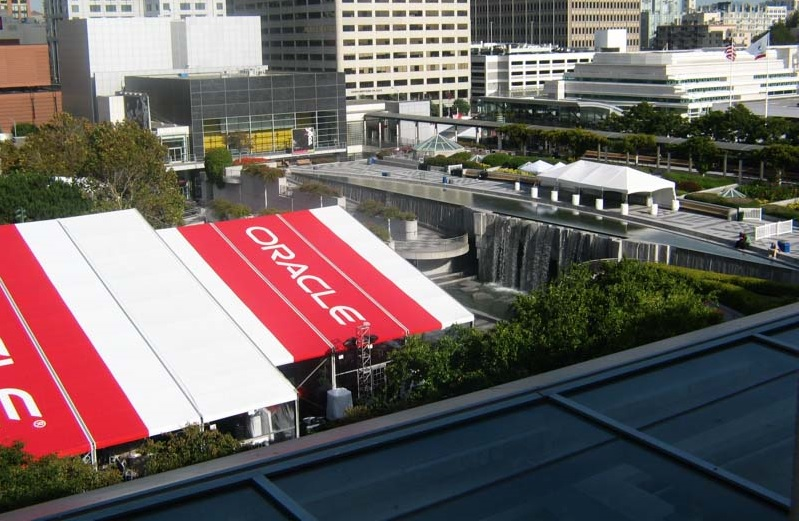 oracle openworld 2015 tent moscone center