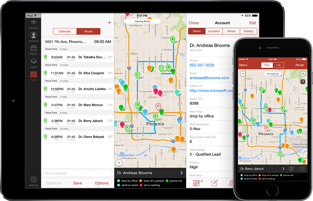 Badger Maps sales mapping mobile dashboard