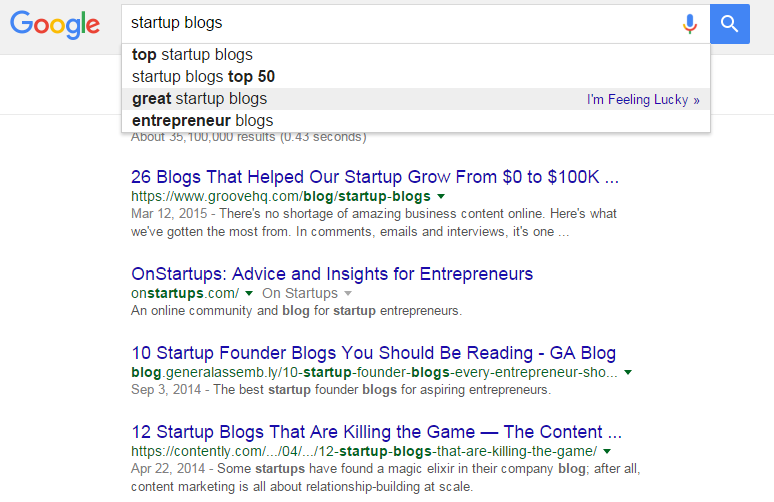 startup blogs